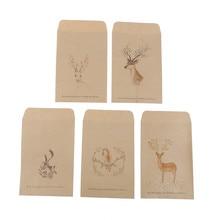 جديد 10 قطعة/الوحدة الصينية المغلف رسمت ظرف ورقي Deer عيد الميلاد الغزلان مانيلا ظرف من ورق الكرافت بطاقة بريدية صور هدية التخزين