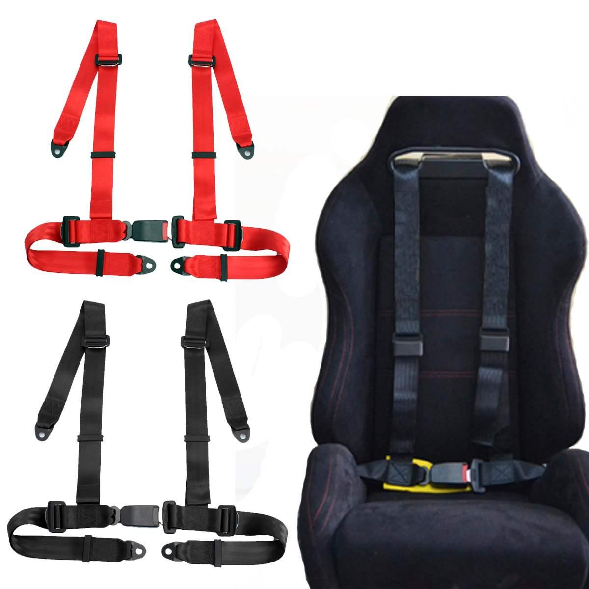 الرياضة سباق تسخير حزام الأمان 3 4 نقطة تثبيت تصاعد الإفراج السريع النايلون سيارة السلامة سباق حزام الأمان أسود أحمر