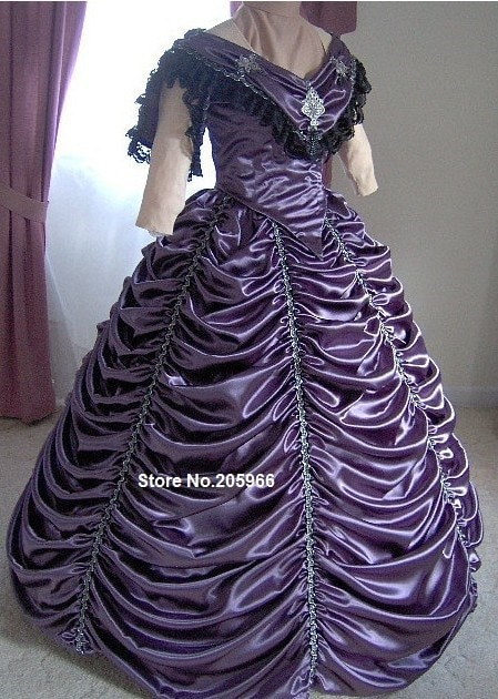 1800s robe de danse victorienne-robe de bal de guerre civile-1860 s robe de bal de mariée de mariage-robe de soirée formelle