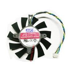 Ordinateur radiateur VGA refroidisseur ventilateur avec dissipateur thermique DASA0815R2U pour référence conception carte graphique GTX450 refroidissement