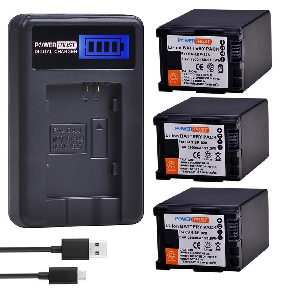Аккумулятор для камеры BP 828 BP828 + зарядное устройство USB с ЖК-дисплеем для Canon VIXIA GX10 HFS30 HF20 HG20 G30 G40 XA20 XA25 HFM300
