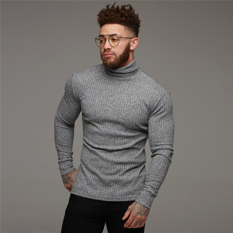 New Fashion Winter Sweater Men Warm Turtleneck Mens Sweaters Slim Fit Pullover Men Classic Sweter Men Knitwear Pull Homme недорого