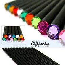 12 pcs/ set black pencil color diamond pencil HB Basswood pencil Learn office drawing pencil