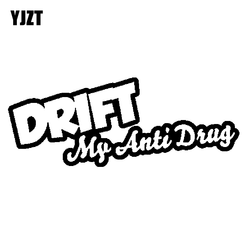 YJZT 16.2CM*6.2CM Creative DRIFT MY ANTI DRUG Vinyl Car-styling Motorcycle Car Sticker Decals C11-1459