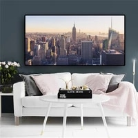building new york city manhattan empire state canvas art scandinavian posters and prints landscape wall picture for living room