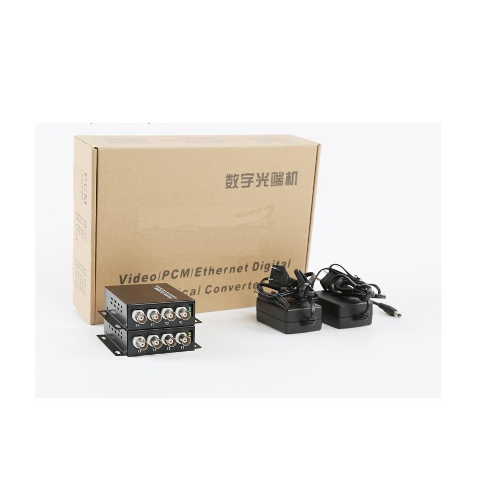 4CH digital Video Optical converter fiber optic video optical transmitter and receiver multiplexer enlarge