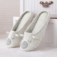 Cotton Cute Animal Home Women Slippers Cartoon Winter Indoor Shoes For Girls Ladies Female Warm House Bedroom Floor Flats