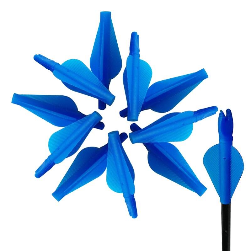 Linkboy unido flecha culatín ID8mm y Fletchings plástico azul y rojo Veleta arco flecha para accesorios de caza