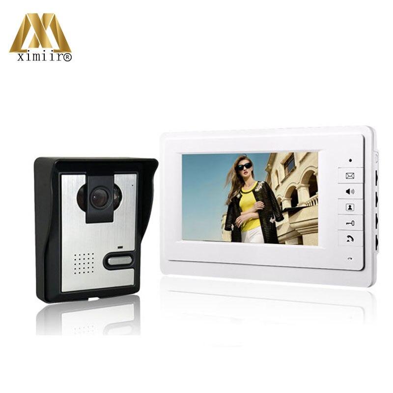 Sistema de intercomunicación manos libres con cable, timbre de videoportero a precio barato 816MA11, monitor a color de 7 pulgadas y timbre de videoportero con cámara IR