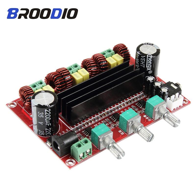TPA3116 amplificador Digital de alta potencia TPA3116D2 Audio DC12V-26V 2*80W + 100W Subwoofer amplificadores de sonido 2,1 para altavoz DIY
