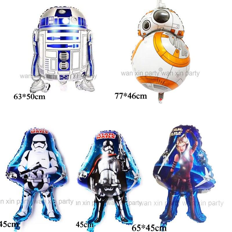 Оптовая продажа (50 шт./лот) воздушный шар Звездные войны детские игрушки робот BB8 фольгированный воздушный шар и R2D2 Гелиевый шар для вечерино...