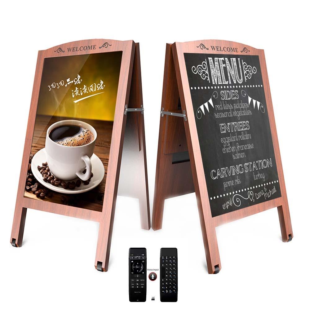 32-дюймовый Android стоящий постер киоск-Коммерческий цифровой дисплей вывесок с пультом дистанционного управления 2,4G идеально подходит для ко...
