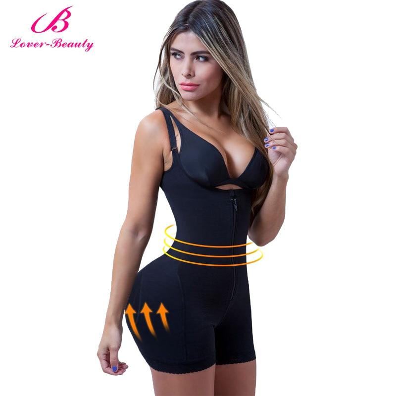 Утягивающий корсет Lover Beauty Fajas Reductora, латексный тренажер для талии с застежкой-молнией и твердым контролем