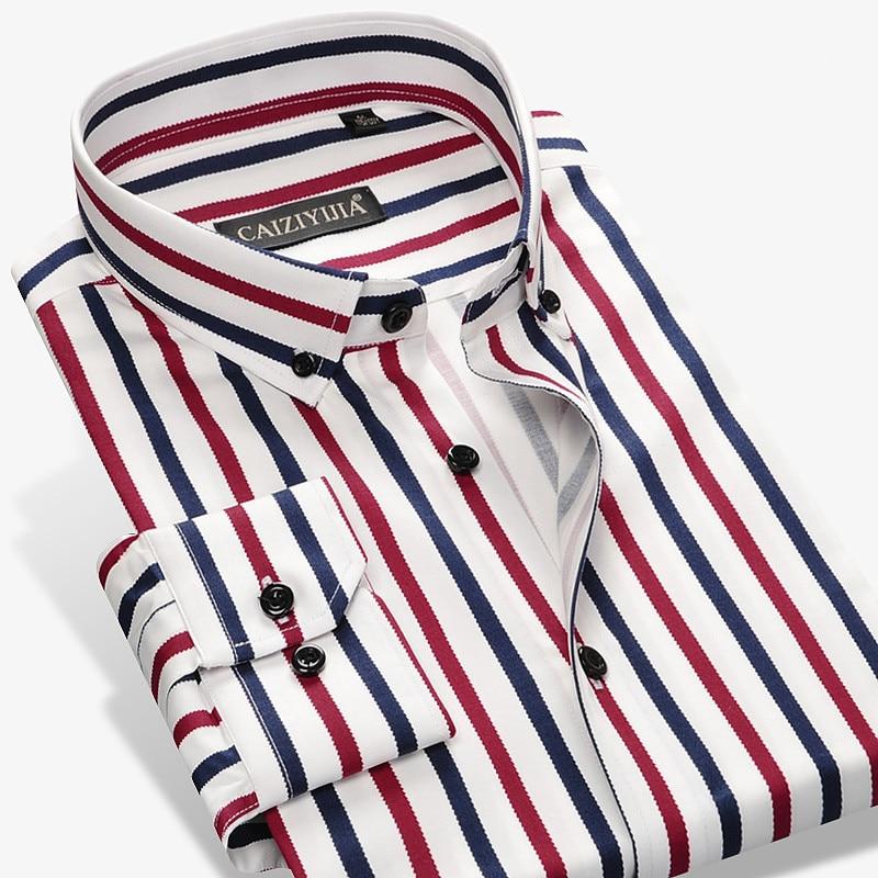 2017 new fashion designer contrast multi striped casual men shirts slim fit comfort soft button down design cotton shirt m497 2017 New Fashion Designer Contrast Multi-Striped Casual Men Shirts Slim Fit Comfort Soft Button-down Design Cotton Shirt M497