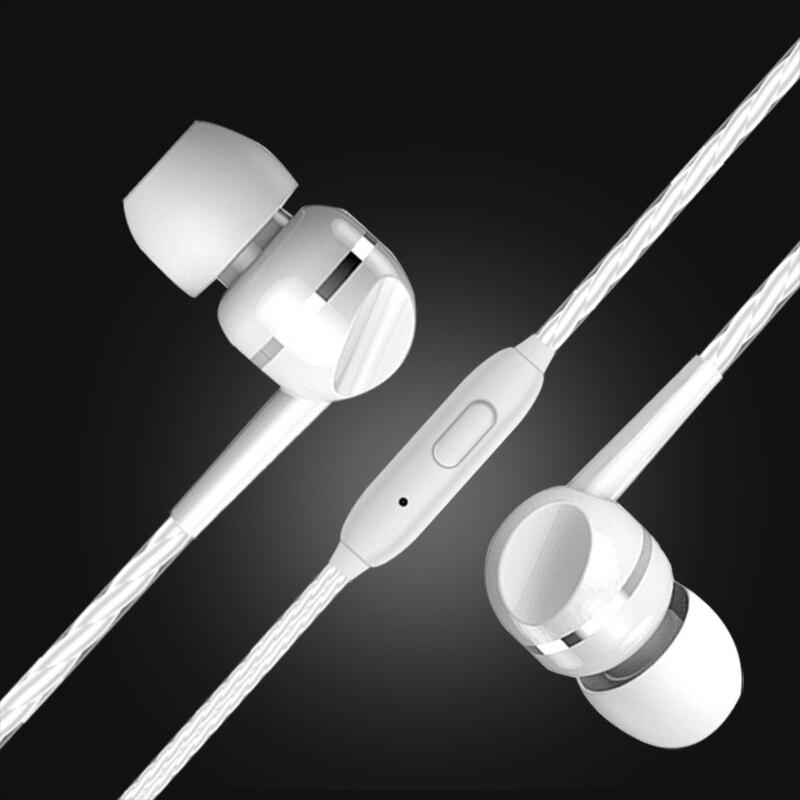 3 5 мм разъем проводные наушники вкладыши стерео Встроенный микрофон беговые для