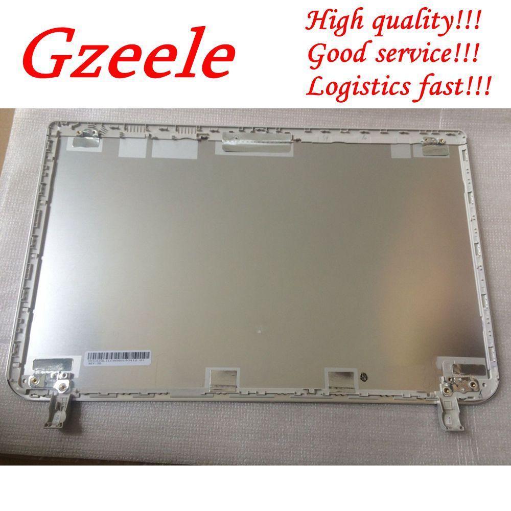 GZEELE جديد أعلى حالة لتوشيبا للستالايت L50-B L55-B S55T-B S55-B LCD غطاء B1BLI0RC02S0 33BLILC00A0 الغطاء الخلفي الفضة