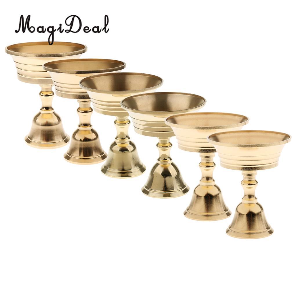 Portavelas de cobre, portalámparas Ghee, lámpara de aceite de latón tibetano, calibre 5,5-11cm