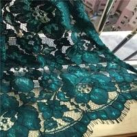 1piecelot openwork embroidered bold cord eyelash lace dress fabric elegant blue lace trim tissu ruban newest dentelle felt