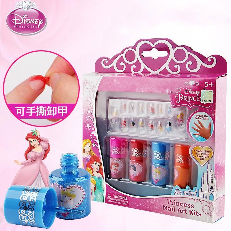 princess  girls Nail sticker Nail art polish Makeup set  Beauty pretend play toys kids birthday gift