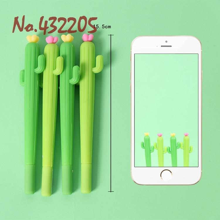 2 uds cactus de dibujos animados flor planta lapicero de gel para estudiante de la escuela herramienta de Decoración de cumpleaños chico amigo recuerdos de fiesta para el hogar suministros mejor regalo