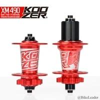 koozer xm490 sealed bearing mtb dh xc mountain bike hubs 28 32 36 holes disc brake 15 12 142mm thru axle qr xd bicycle hub