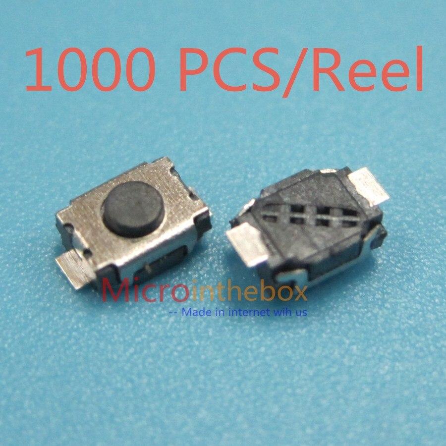 1000 Uds Interruptor táctil SMT 2 pin Mini Micro interruptor de llave 260gf 3*4*2,0 3x4x2,0 On Off tamaño pequeño