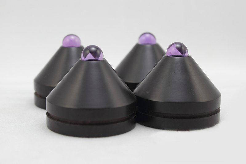 33 ミリメートル 4 個黒檀黒檀スピーカーアンプショックスパイクオーディオショックアブソーバーアンプコーンスピーカーパッド