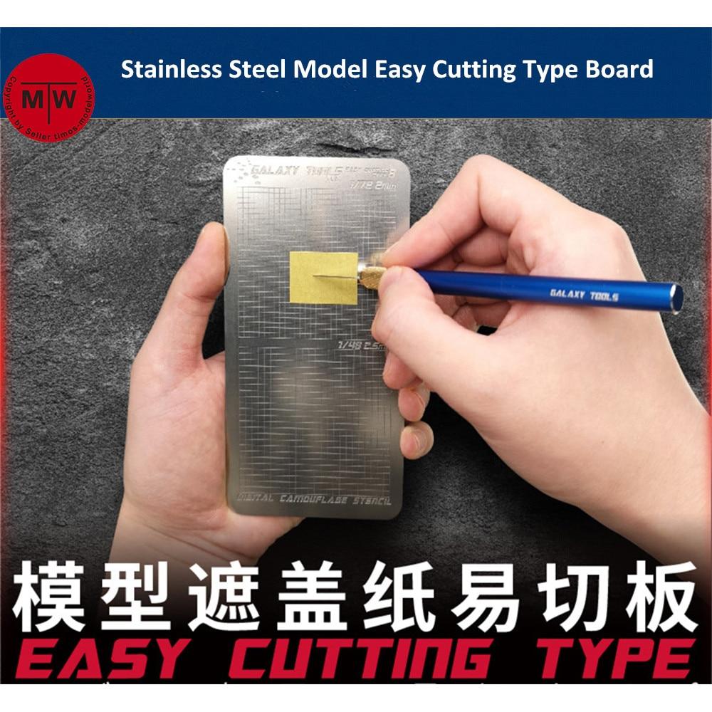 Galaxy ferramentas modelo de aço inoxidável folha de mascaramento fácil tipo corte placa esteira hobby ofício ferramenta