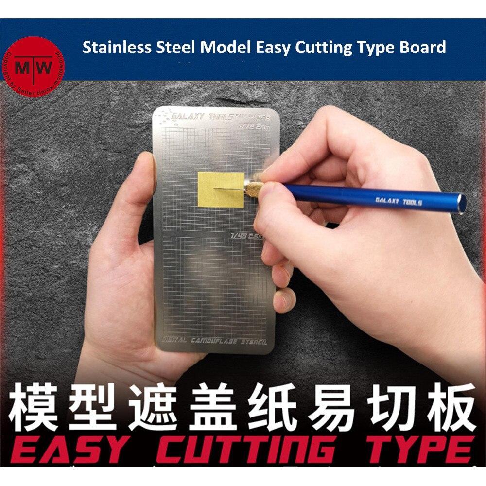 Herramientas GALAXY, hoja de enmascaramiento modelo de acero inoxidable, tabla de corte fácil, alfombrilla, herramienta de artesanía Hobby