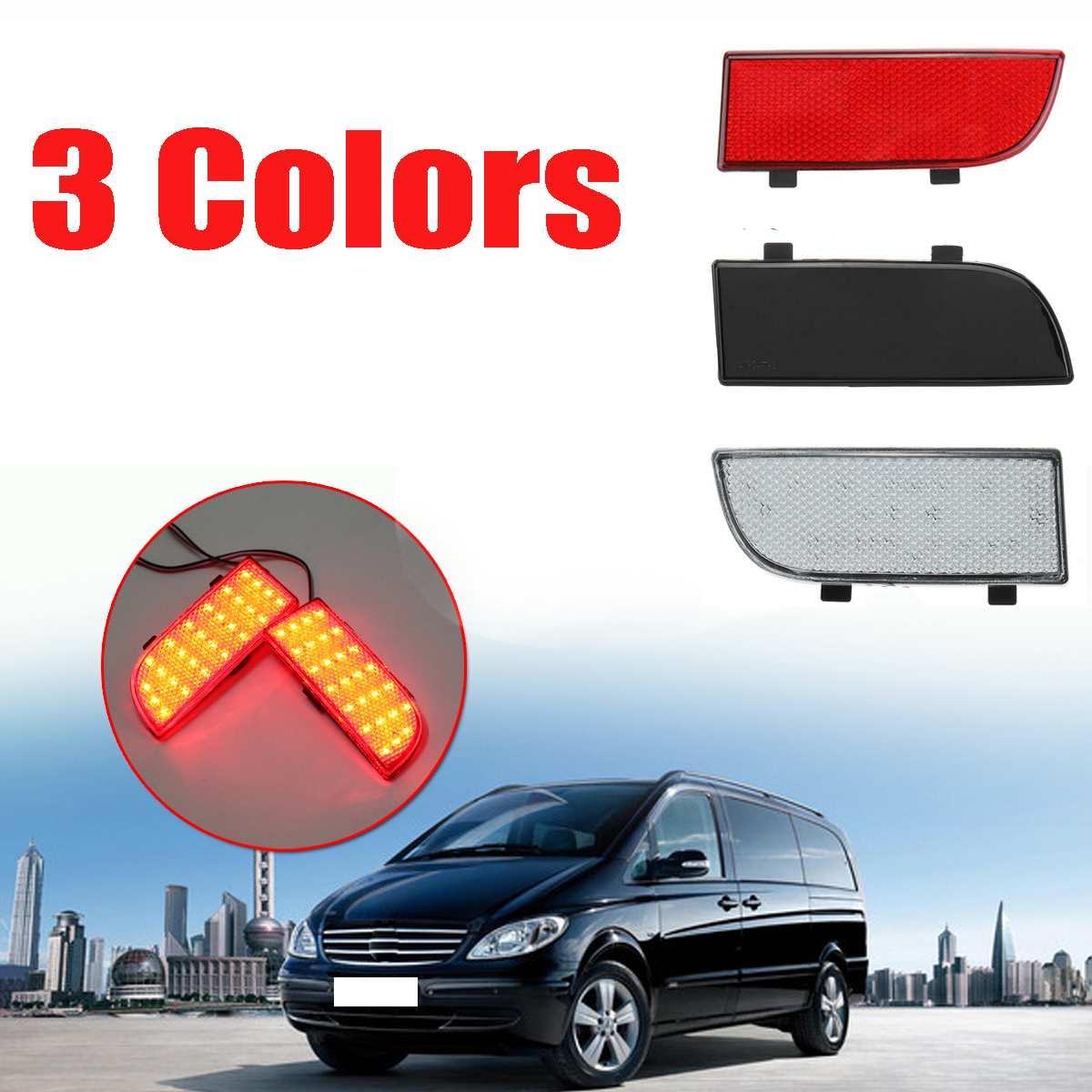 Pair LED Rear Bumper Reflector Spotlight Fog Tail Brake Light reverse light Reversing lamp for Mercedes-Benz Vito Viano W639
