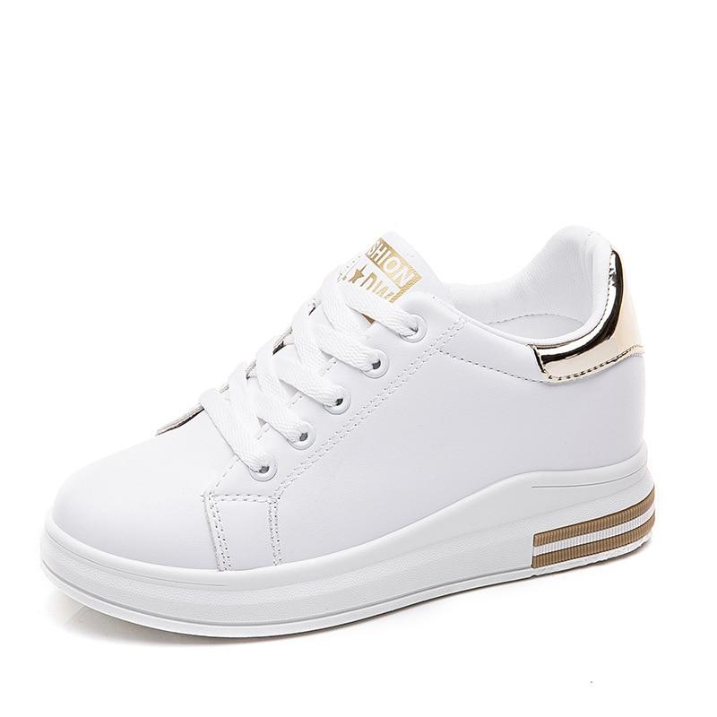 Hot sprzedaż kobiety białe buty otwory skórzane znane marki damskie buty do biegania brytyjski styl mieszkania buty sportowe dla kobiet trampki
