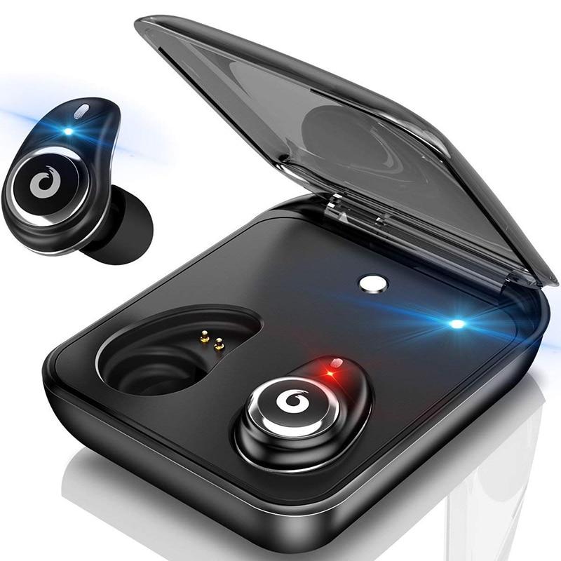 TWS I7 Plus, auricular inalámbrico con Bluetooth para iPhone, Control táctil, auriculares estéreo con Bluetooth para iPad, auricular para Android