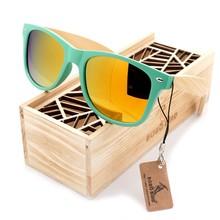 BOBO BIRD-lunettes de soleil unisexe femme   WCG001, lunettes polarisées colorées faites à la main, jambes en bambou, lunettes oculos avec boîte