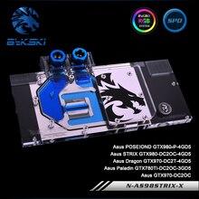Bykski N-AS98STRIX-X, Full Cover Graphics Card Water Cooling Block RGB/RBW for Asus GTX980 GTX970 GTX780Ti GTX780