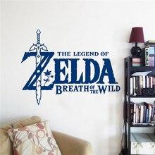 The Legend of Zelda Breath of the Wild Wall Sticker Nursery Game Room Decoration Vinyl Bedroom Art Poster Mural Decals W147
