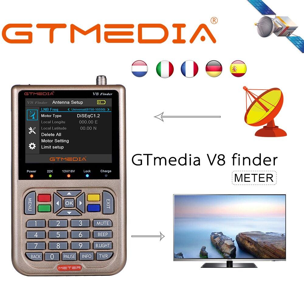 Gtmedia freesat V8 Finder Meter Satellite Finder DVB-S2 Receiver Digital Signal meter HD TV Antenna Outdoor Detector Sat Dish