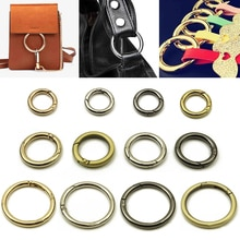 wholesale Metal Spring Gate O Ring Openable Keyring Leather Bag Belt Strap Buckle Dog Chain Snap Cla