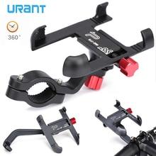URANT Aluminum Motorcycle Holder 360 Degree Rotatable Handlebar Bike Bicycle Mount For Mobile Phone GPS Phone Stand