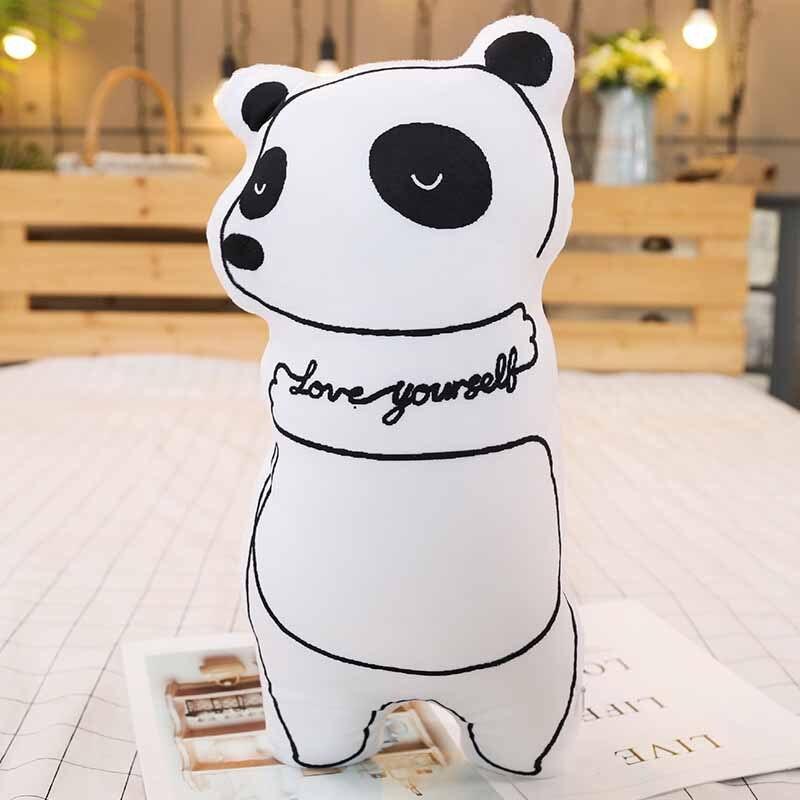 Cartoon 3D printing animal elephant panda plush toy doll sleeping pillow cushion doll