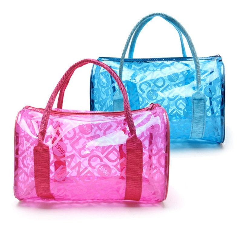 Women Swimming Bag Waterproof Bags Swim Clear Handbags Transparent PVC Pool Beach Organizer Sack Letters Dry Bag Sport XA318WA