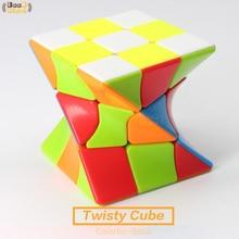 Cube magique Twisty Torsion Cube magique 3x3x3 coloré corps Puzzle Cube 3x3 étrange-forme Cube éducation jouets pour enfants