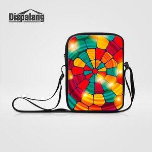 Dispalang Kids Messenger Bags Colorful Pattern Print Small Travel Crossbody Bag For Women Men Casual Shoulder Bag Ladies Handbag