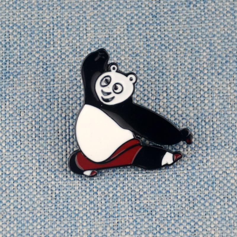 Kung Fu Panda esmalte Pin Po solapa Pin broche sombrero mochila Accesorios
