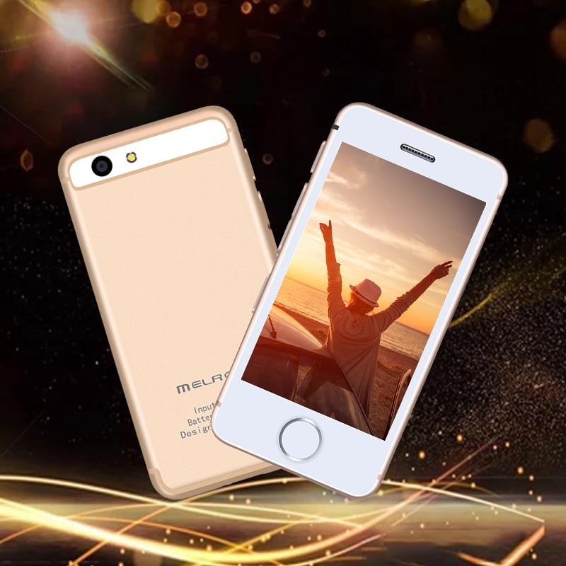 MELROSE S9P Versión de moda de teléfono móvil ultrafino mini personalidad estudiantes y teléfonos inteligentes de bolsillo para hombres