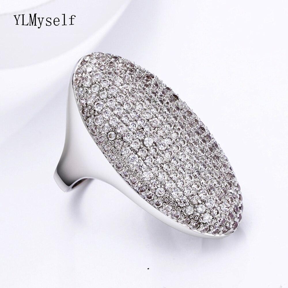 2020 anillos de color plata muy largos para mujeres brillantes joyas de cristal hipérbole de lujo anillo de dedo para damas para fiesta