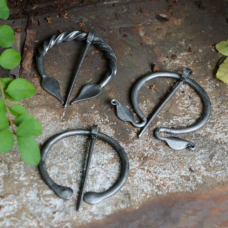 QIHE bijoux penannulaire Viking broche cape broche médiévale fermoir Viking bijoux nordiques bijoux châle accessoires