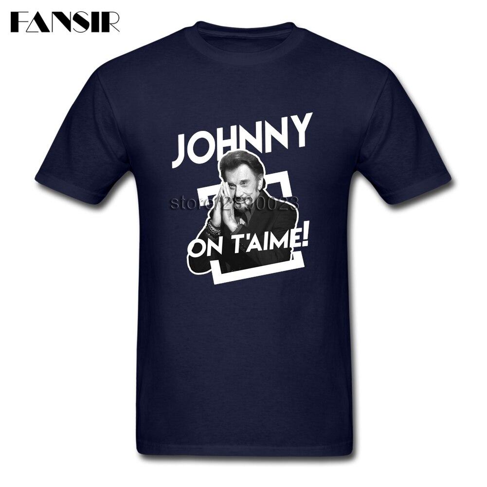Camiseta Cool para hombre, Chico, Johnny Hallyday, hombre con camiseta de manga corta y cuello redondo, ropa para chicos
