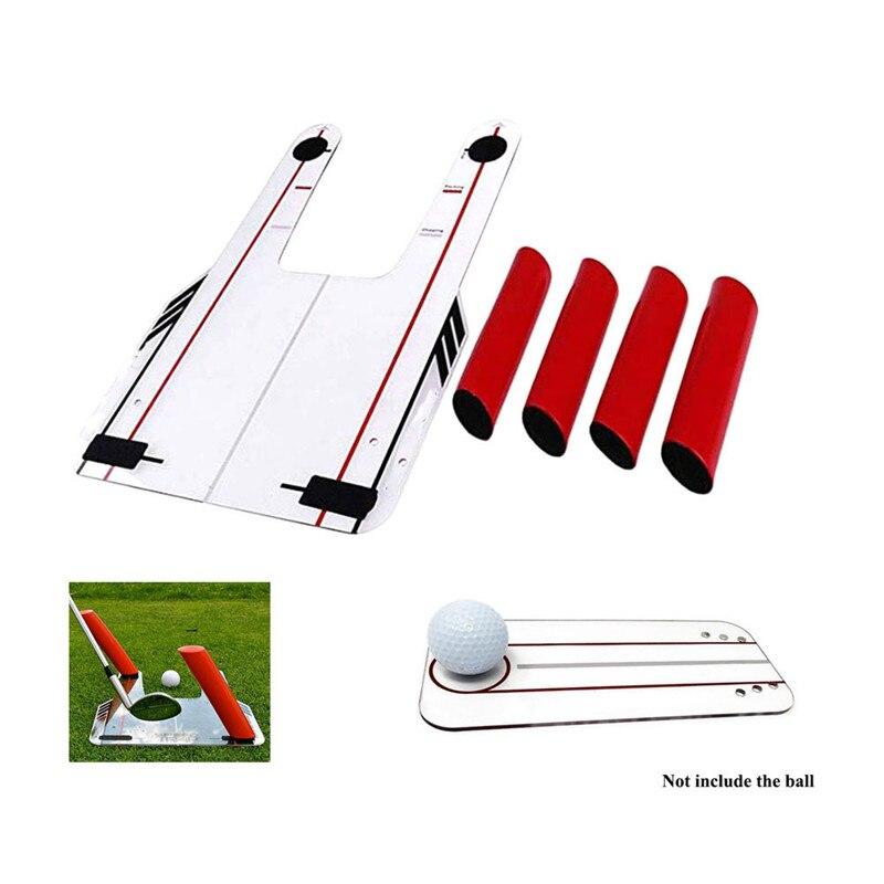 PVC Golf alineación entrenador ayuda Swing formación trampa de velocidad práctica Base 4 velocidad de accesorios de Golf espejo Golf herramienta con bolsa