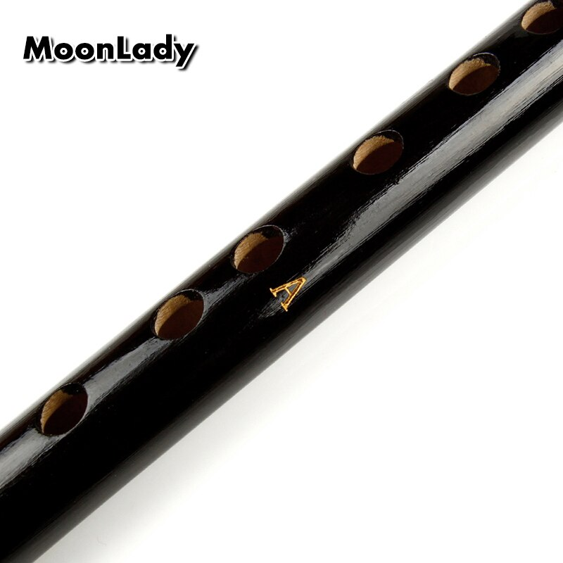 A Key 8 Holes Bamboo Flute Black Musical Instreuments Small Size Chinese Handmade Woodwind Instrument Easy to Learn enlarge