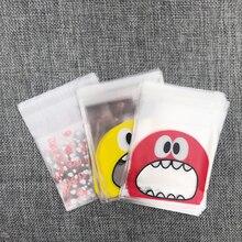 Pochettes Cellophane transparentes en plastique   7x7 + 3cm 100 pièces, sac de chocolat à cookies et bijoux, pochettes auto-adhésives pour cadeaux de mariage, sacs demballage de bonbons